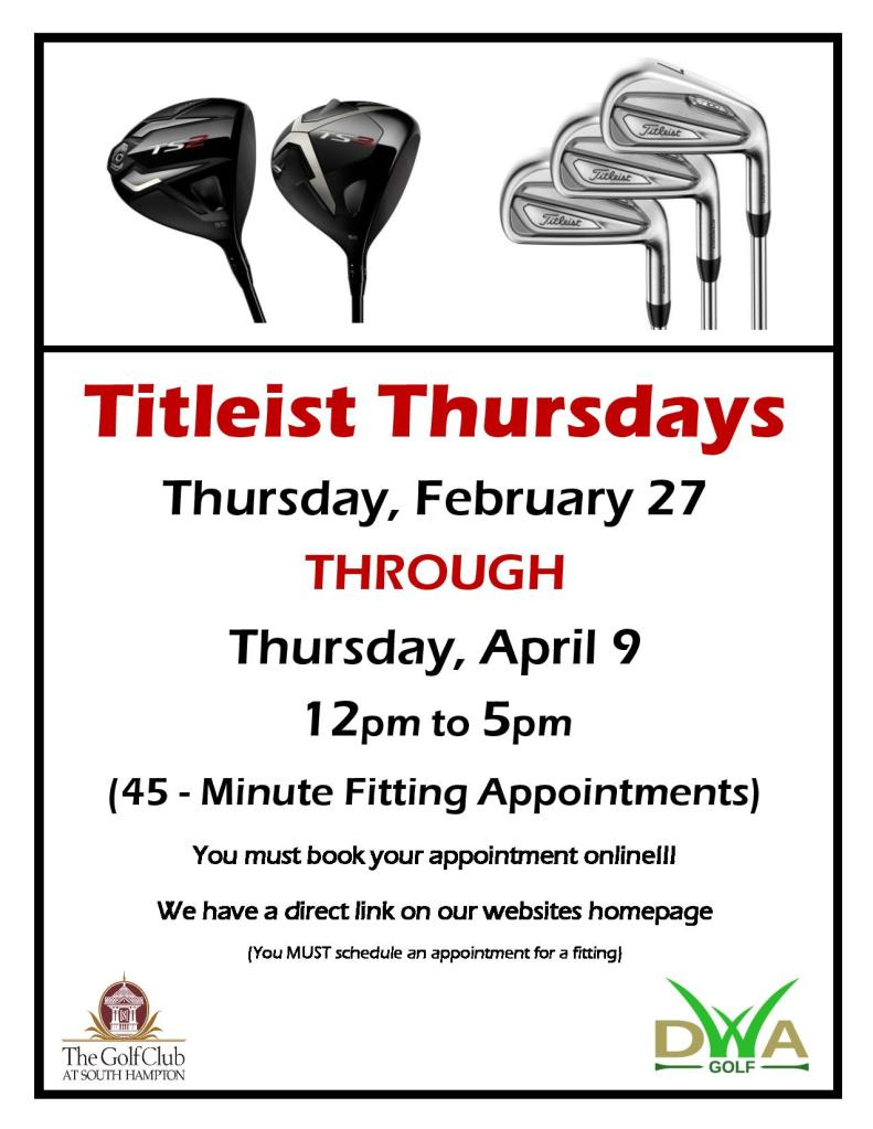 titleistthursday